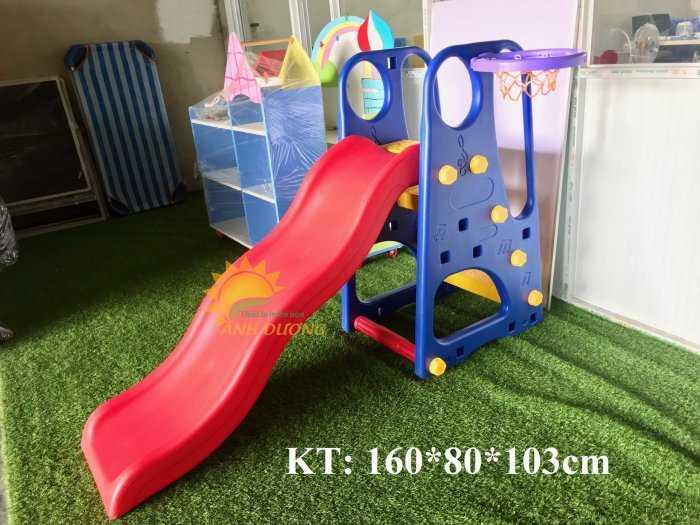 Cầu trượt trẻ em bằng nhựa cho trường mầm non, khu vui chơi, gia đình4