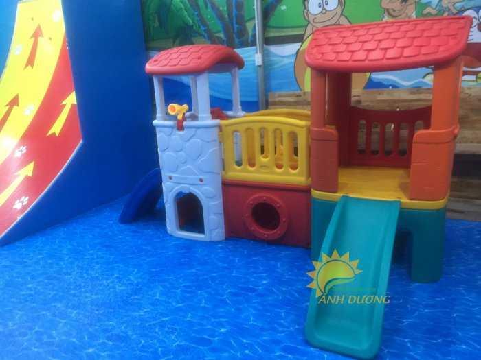 Cầu trượt trẻ em bằng nhựa cho trường mầm non, khu vui chơi, gia đình3