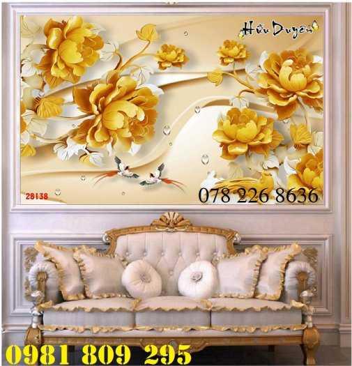 Gạch tranh 3d ốp tường hoa sen - tranh 3d hồ sen1