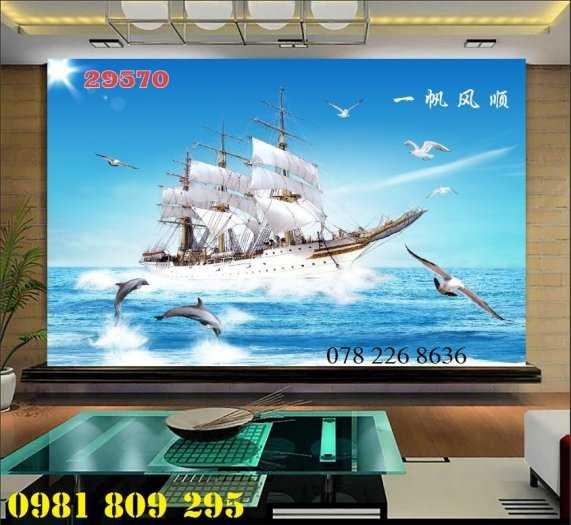 Gạch tranh 3d thuyền buồm - tranh 3d phong thủy2