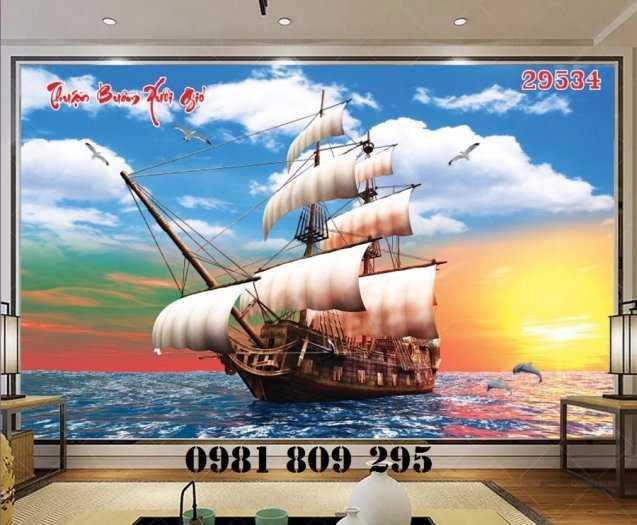 Gạch tranh 3d thuyền buồm - tranh 3d phong thủy3