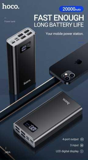 Pin sạc dự phòng Hoco J46A 20000mah 4 cổng USB 2.0A màn hình led1