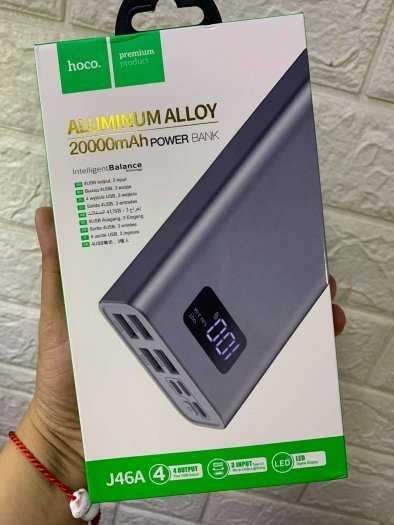 Pin dự phòng Hoco J46A 20000mah 4 cổng USB 2.0A màn hình led mới9