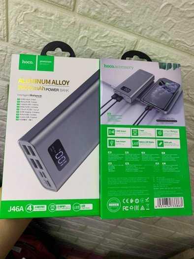 Pin dự phòng Hoco J46A 20000mah 4 cổng USB 2.0A màn hình led mới7