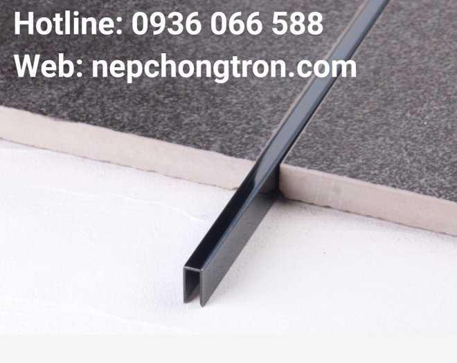 Nẹp U5mm Inox 304, nẹp trang trí U inox 304, dùng đi chỉ tường, nối khe hở, tạo điểm nhấn3