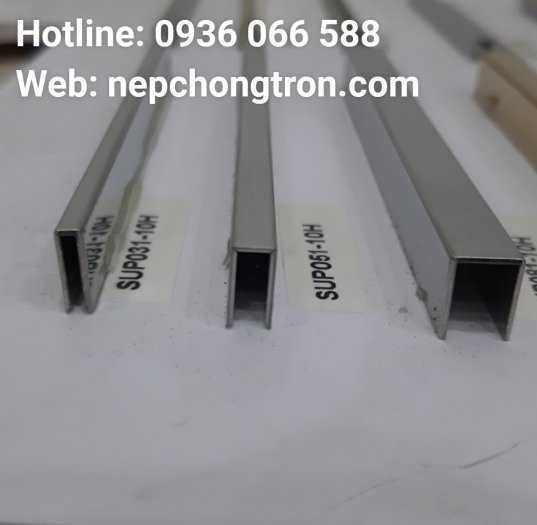 Nẹp U5mm Inox 304, nẹp trang trí U inox 304, dùng đi chỉ tường, nối khe hở, tạo điểm nhấn0