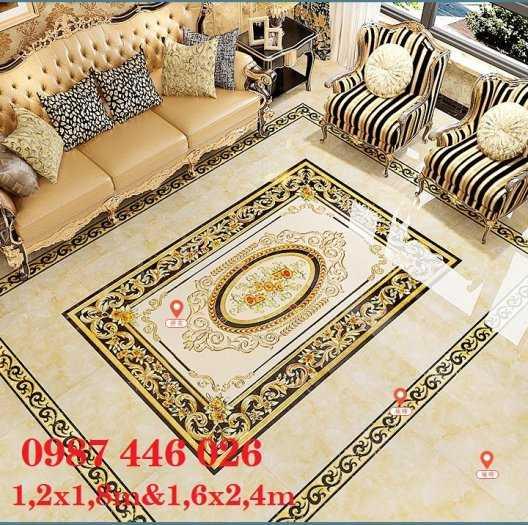 Gạch thảm, gạch trang trí khắc vàng HP70282