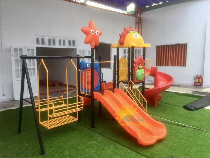 Chuyên cầu trượt liên hoàn ngoài trời cho trường mầm non, quán cà phê, khu vui chơi
