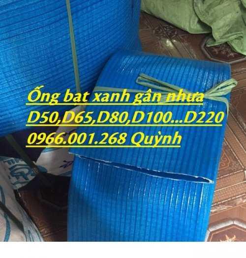 Báo giá ống vải bạt cốt dù, ống bạt xanh xả nước D60,D80,D100,D120,D1507