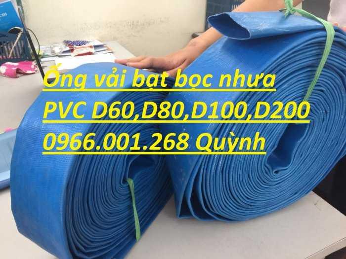Báo giá ống vải bạt cốt dù, ống bạt xanh xả nước D60,D80,D100,D120,D1501