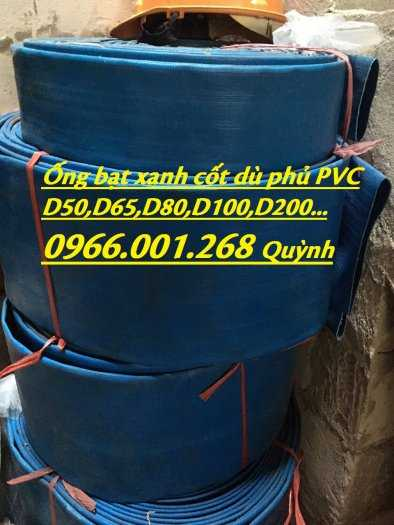 Báo giá ống vải bạt cốt dù, ống bạt xanh xả nước D60,D80,D100,D120,D1508