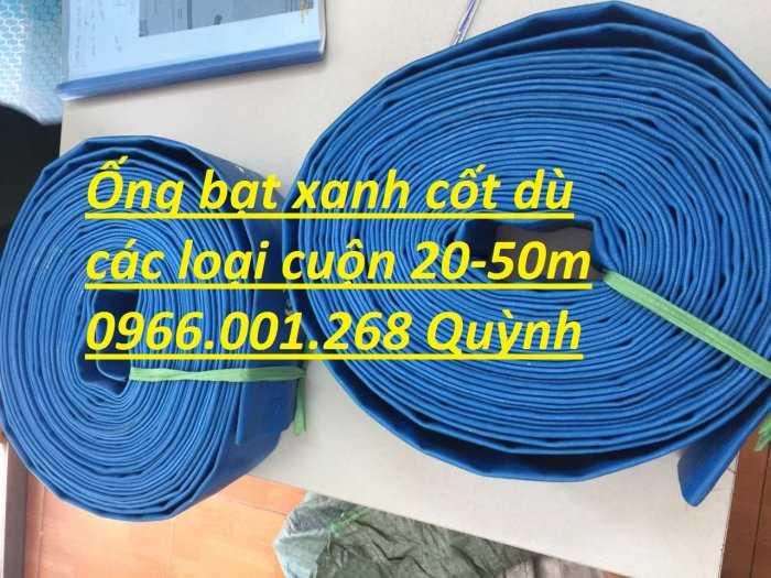 Báo giá ống vải bạt cốt dù, ống bạt xanh xả nước D60,D80,D100,D120,D1502