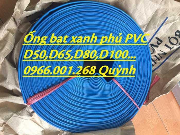 Báo giá ống vải bạt cốt dù, ống bạt xanh xả nước D60,D80,D100,D120,D1505