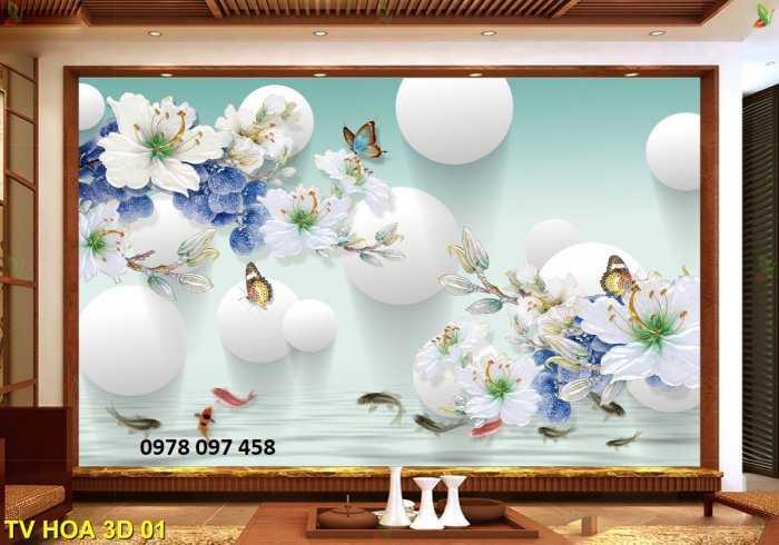 Tranh hoa 3D - tranh gạch men 3D3