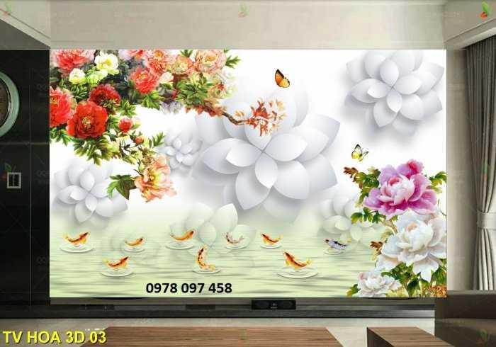 Tranh hoa 3D - tranh gạch men 3D1