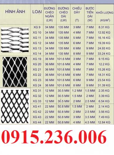 Lưới dập giãn, Lưới XG19, XG20, XG21... khổ 1m, 1,2m, 1,5m giá rẻ