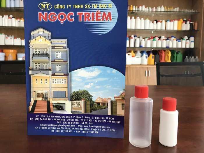Chai Nhựa 50ml (C-011)/ 100ml (C-012) - Bao Bì Ngọc Triêm0