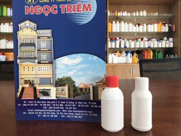 Chai Nhựa 50ml (C-019)/ 100ml (C-020) Vặn 2 Ngấn - Bao Bì Ngọc Triêm0