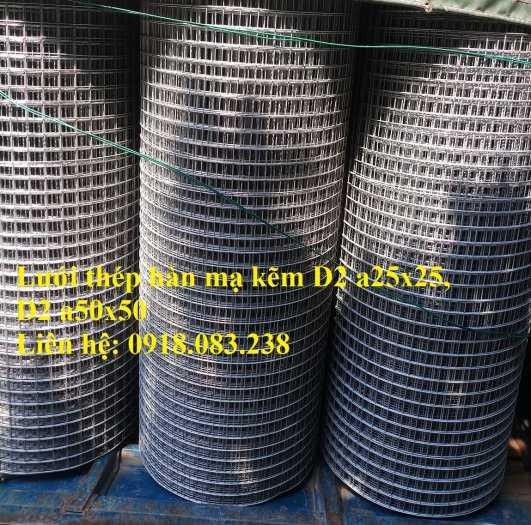 Lưới thép hàn D2 hàng mạ, ô 25x25, ô 50x50 dạng cuộn1