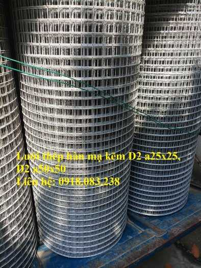 Lưới thép hàn D2 hàng mạ, ô 25x25, ô 50x50 dạng cuộn0