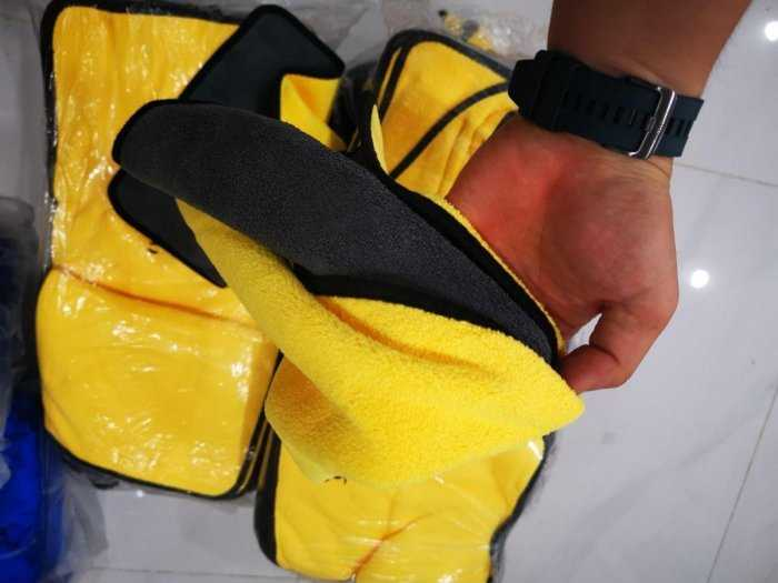 [BanSi] Khăn Lau Đa Năng Microfiber 2 Lớp Chuyên Dụng Vải Bông Mềm, Siêu Thấm Hút 30x40cm
