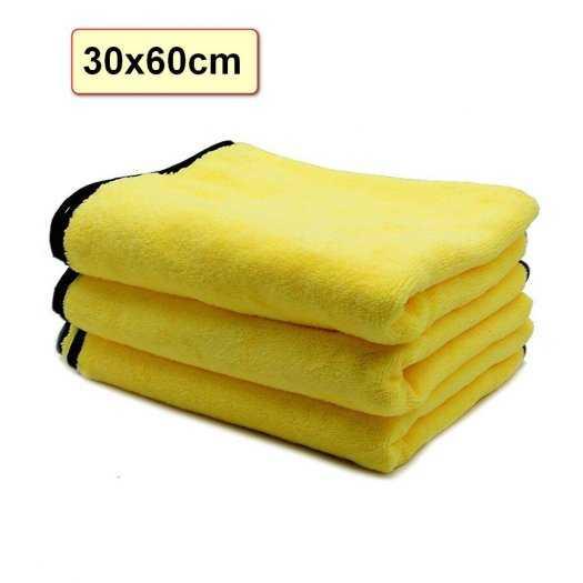 [BanSi] Khăn Lau Đa Năng Microfiber 2 Lớp Chuyên Dụng Vải Bông Mềm, Siêu Thấm Hút 30x60cm