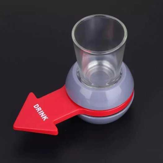 Spin the shot, mũi tên xoay uống rượu tặng kèm ly