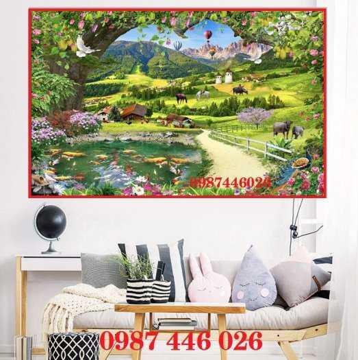 Tranh gạch men phong cảnh cây xanh HP10034
