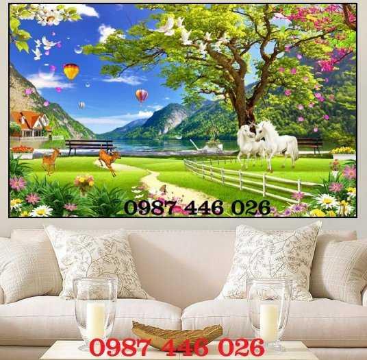 Tranh gạch men phong cảnh cây xanh HP10035