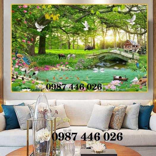 Tranh gạch men phong cảnh cây xanh HP10036