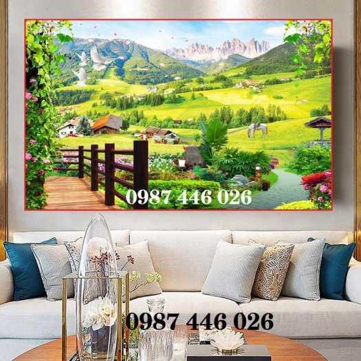 Tranh gạch men phong cảnh cây xanh HP10037