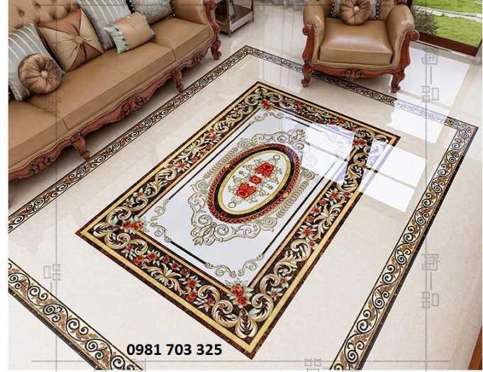 Thảm gạch lát sàn phòng khách2