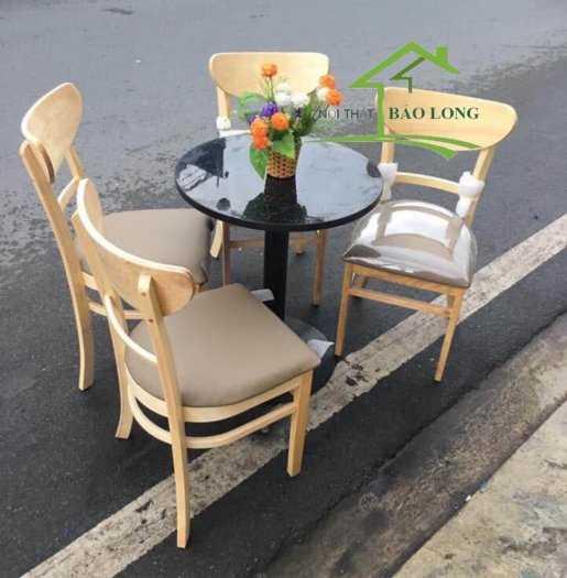 Bàn ghế gỗ nệm cafe0