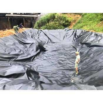 Bạt nhựa chống thấm hdpe 0.3,0.5mm khổ 4x50,5x60m lót ao tôm,cá,bãi rác0