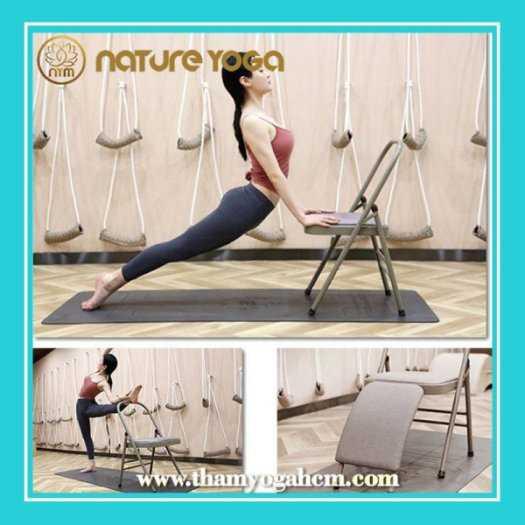 Ghế Tập Yoga Đa Năng Hỗ Trợ Tại Nhà Có Cầu Đỡ Đầu8