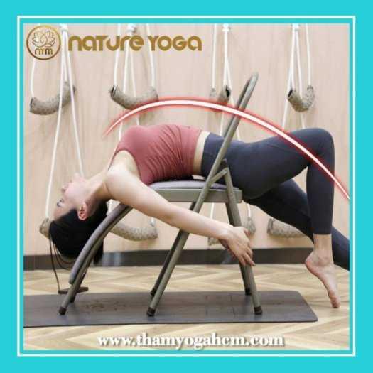 Ghế Tập Yoga Đa Năng Hỗ Trợ Tại Nhà Có Cầu Đỡ Đầu10