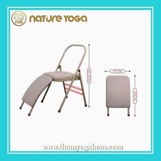 Ghế Tập Yoga Đa Năng Hỗ Trợ Tại Nhà Có Cầu Đỡ Đầu1