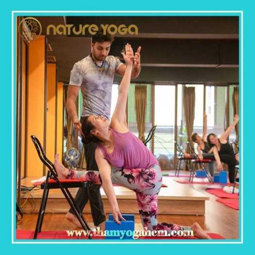 Ghế Tập Yoga Đa Năng Hỗ Trợ Tại Nhà Có Cầu Đỡ Đầu3