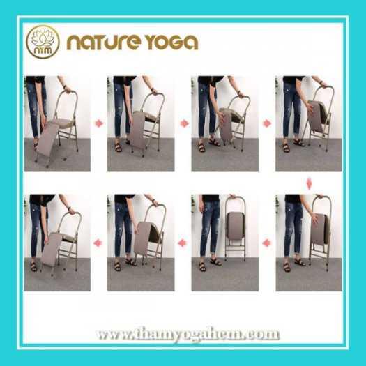 Ghế Tập Yoga Đa Năng Hỗ Trợ Tại Nhà Có Cầu Đỡ Đầu5