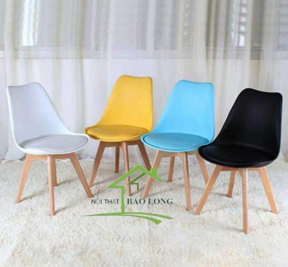 Ghế nhựa Eames nệm giá rẻ0