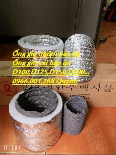 Ống gió mềm nhôm có bảo ôn Hàn Quốc ,Trung Quốc các loại phi 200,phi 150,phi 300 giá rẻ3