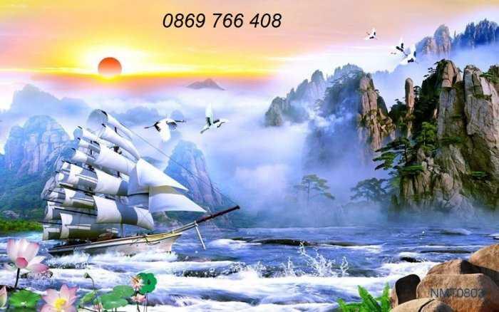 Tranh gạch men-tranh gạch thuận buồm xuôi gió4