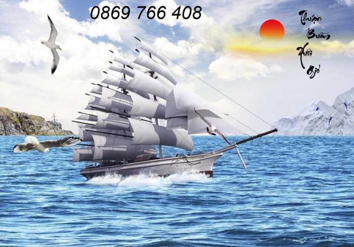 Tranh gạch men-tranh gạch thuận buồm xuôi gió3