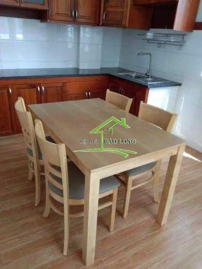 Bộ bàn ghế gỗ phòng ăn giá rẻ0