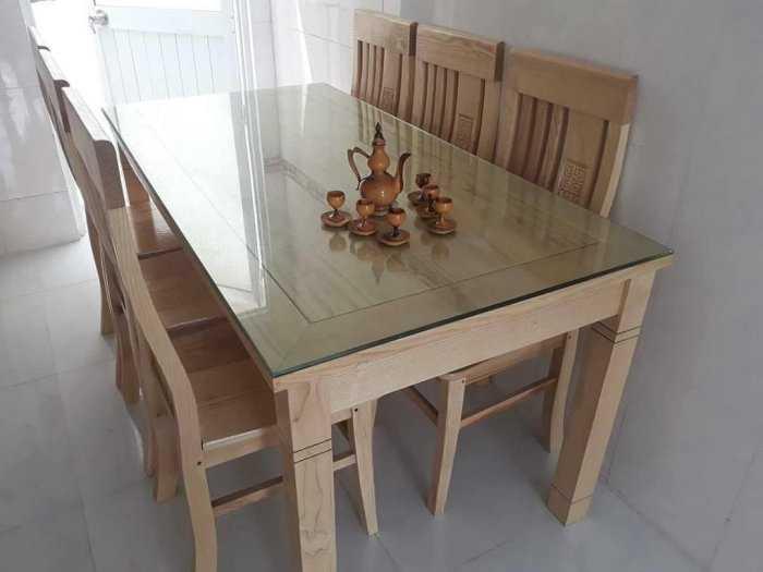 Bộ bàn ăn gỗ mặt kính cao cấp giá rẻ1