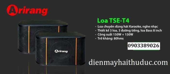Loa Arirang TSE-T4 hàng tầm trung giá rẻ của Maseco Việt Nam
