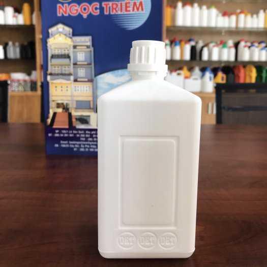 Bình nhựa 0.5 Lít Vuông (B-012) - Bao Bì Ngọc Triêm1