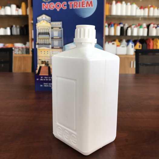Bình nhựa 0.5 Lít Vuông (B-012) - Bao Bì Ngọc Triêm0