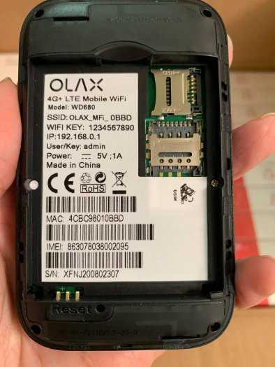 Bộ Phát wifi 4G ZTE WD680 OLAX Chính hãng tốc độ cao6