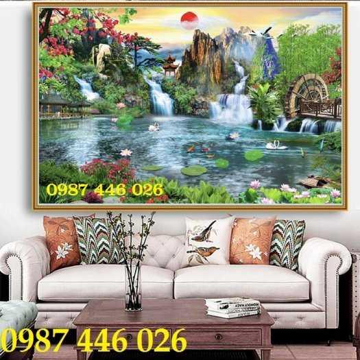 Tranh gạch thiên nhiên thác nước HP3895